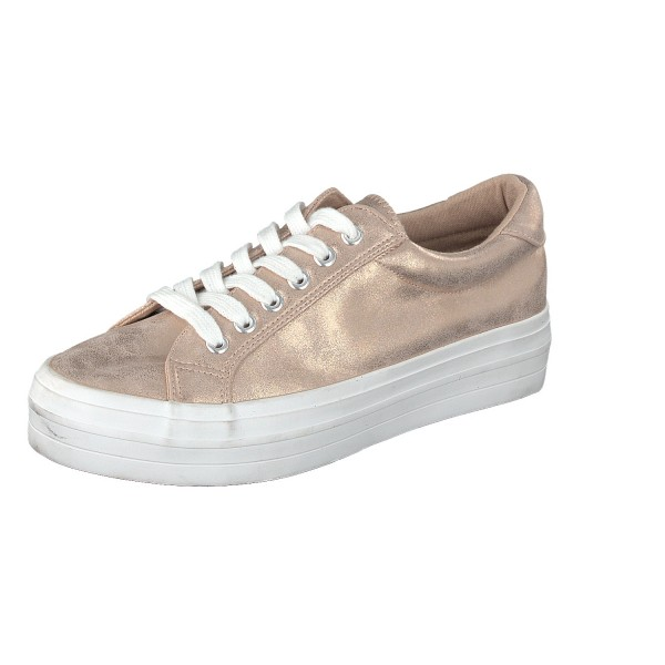 Canadians 236 491 Damen Sneaker Plateausohle und Schnürung rosegold